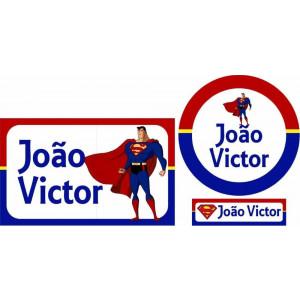 Combo Etiquetas Super Homem