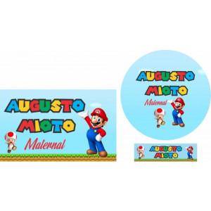 Combo Etiquetas Super Mario